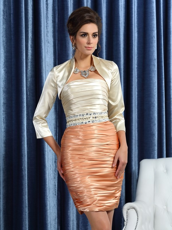 Silk like Satin 3/4 Sleeves Special Occasion Fashion Wrap