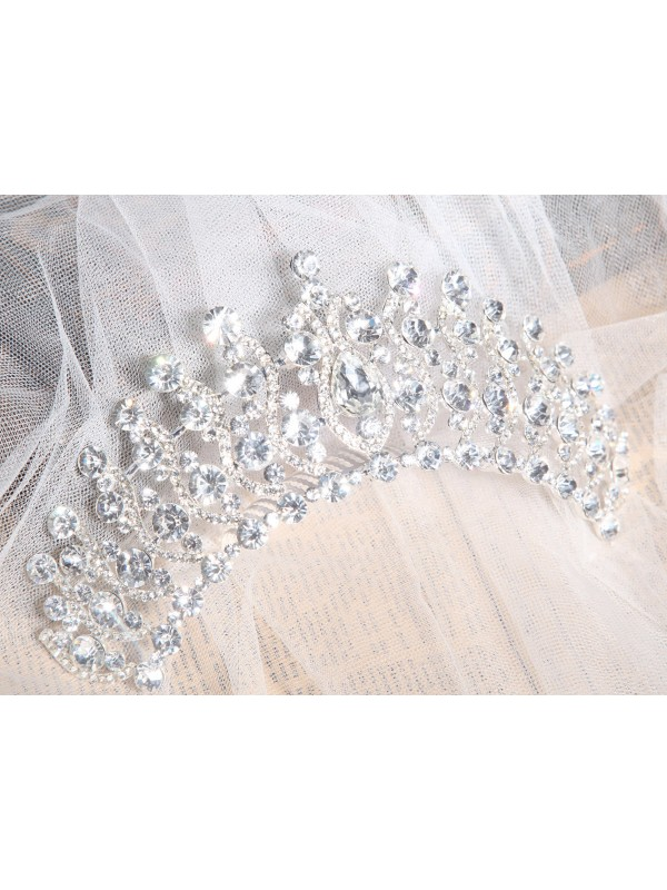 Elegant Alloy Clear Crystals Wedding Party Headpiece