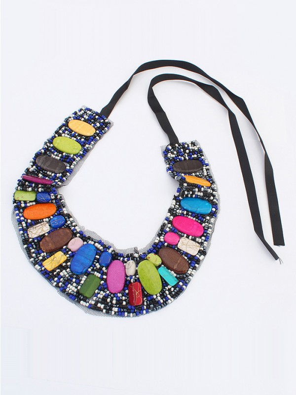 Occident Bohemia Ethnic customs Fashion Necklace - A