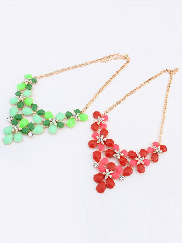 Occident New Butterfly Flowers Bohemia Fashion Necklace