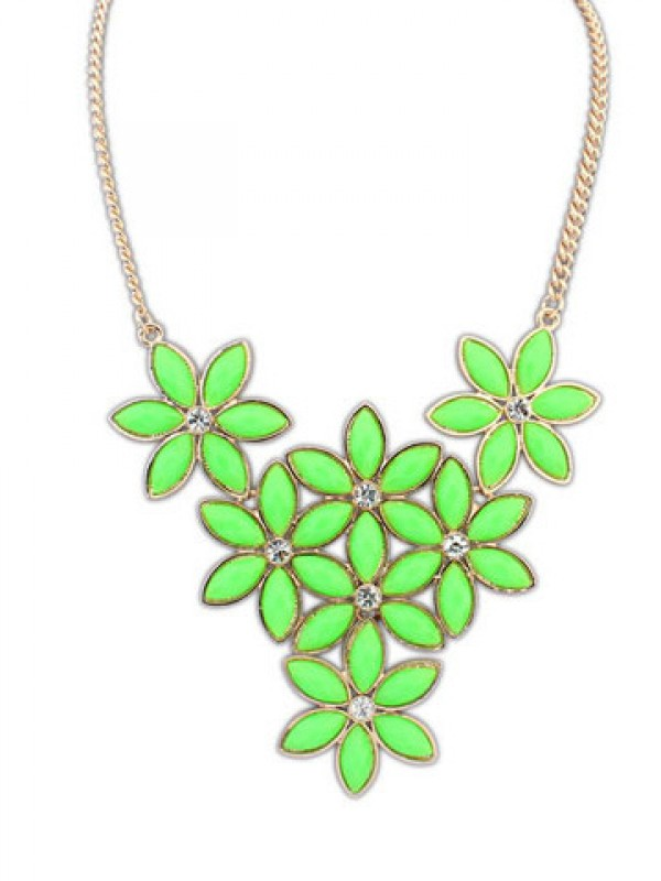 Occident Stylish New Flowers all-match Fashion Necklace