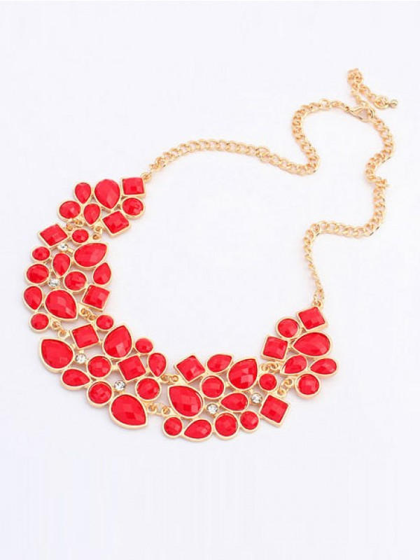 Occident Retro Luxurious Geometry Stitching Stylish all-match Fashion Necklace