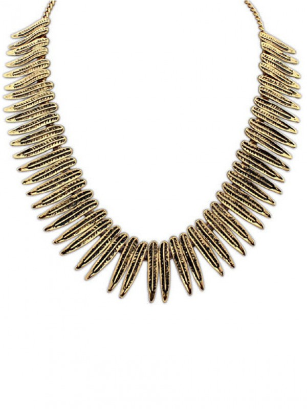 Occident Hyperbolic Punk Personality Metallic Fashion Necklace