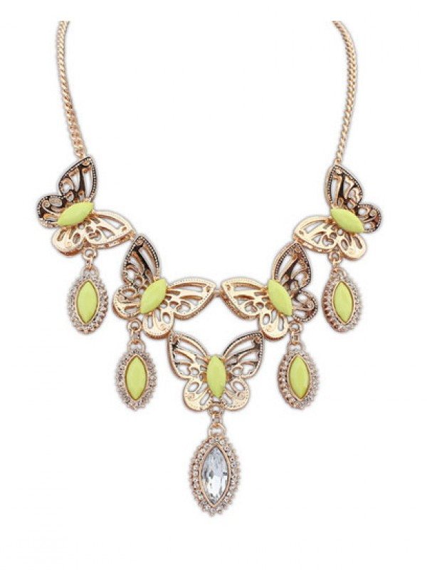 Occident Stylish Butterfly Tears Boutique Fashion Necklace