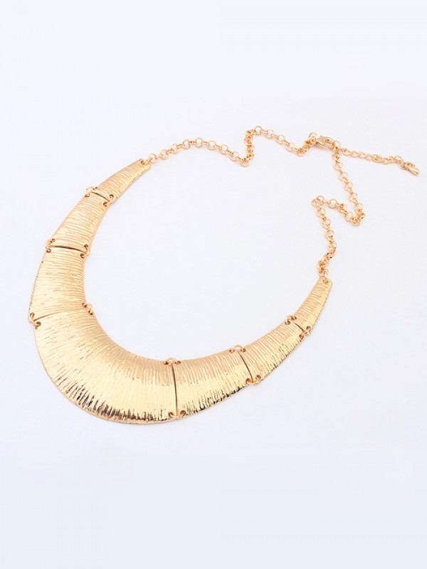 Occident Hyperbolic Metallic Do the Old Retro Fashion Necklace