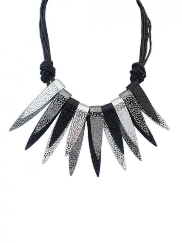 Occident Punk Personality Bunk Metallic Fashion Necklace