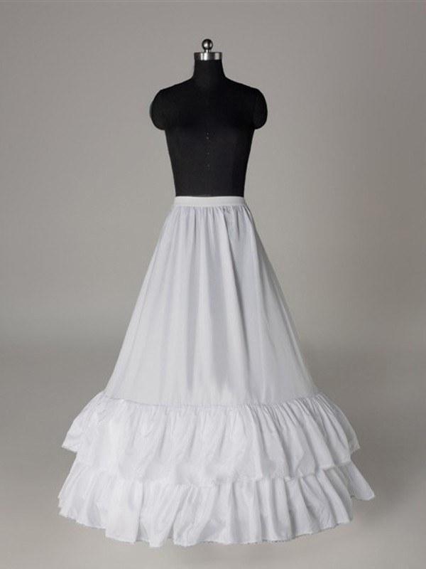 Nice Nylon A-Line 1 Tier Floor Length Slip Style Wedding Petticoat