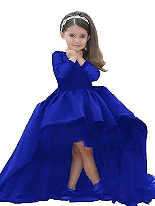 Ball Gown Scoop Floor-Length Black Flower Girl Dresses