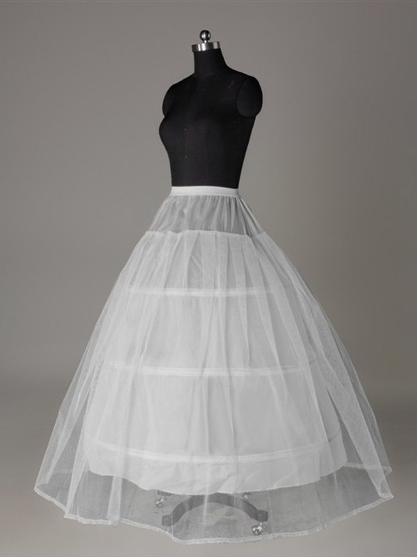 Tulle Netting Ball-Gown 2 Tier Floor Length Slip Style Wedding Petticoat