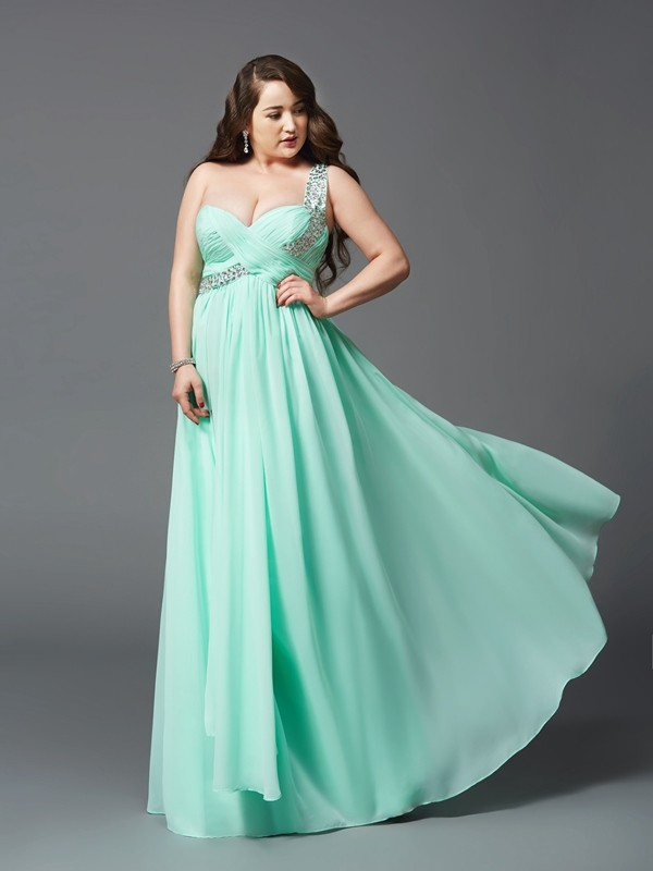Chiffon One-Shoulder Floor-Length Other Prom Dresses