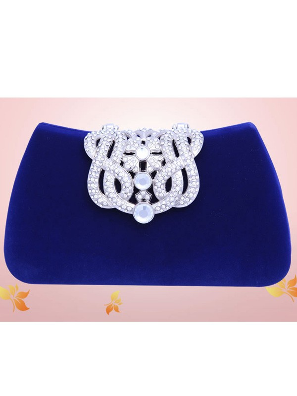 Mini Rhinestone Flock Party/Evening Bag