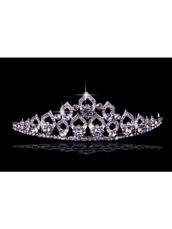 Glamorous Alloy With Czech Rhinestones Wedding Party Headpiece
