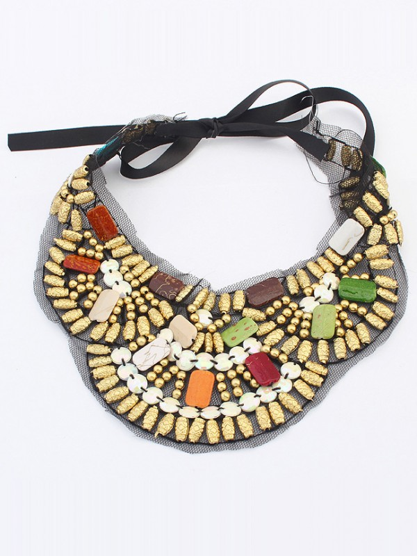 Occident Bohemia Ethnic customs Fashion Necklace - D