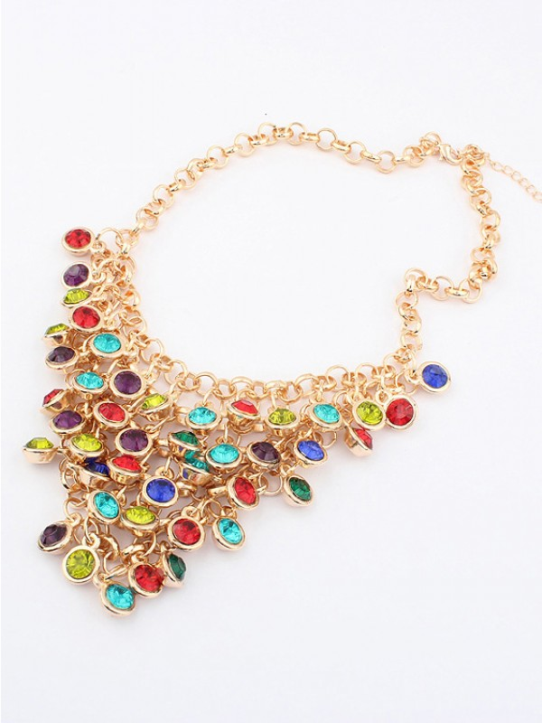 Korean version Colorful wafer curtain Stylish Fashion Necklace