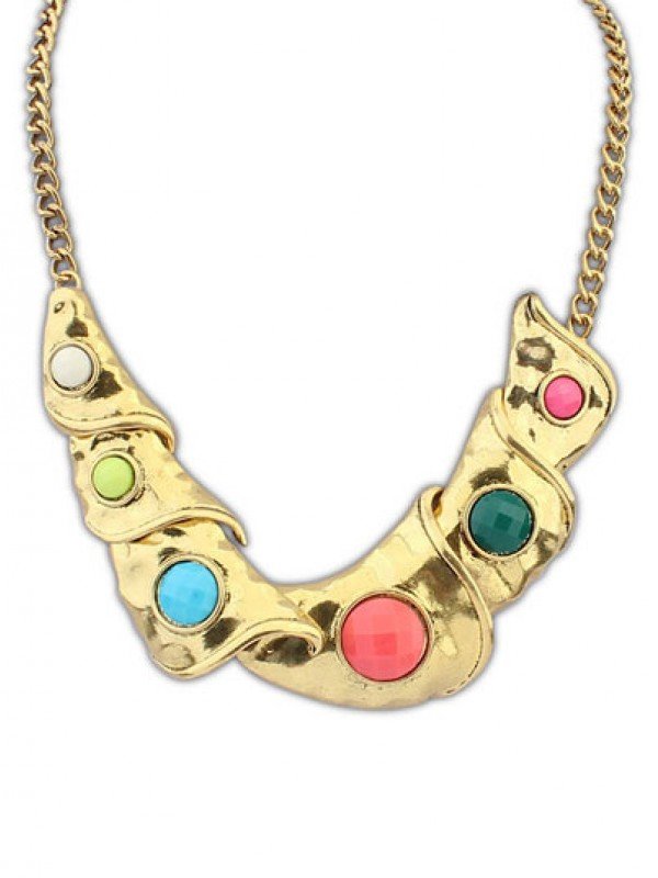 Occident Hyperbolic Personality Metallic Geometry Fashion Necklace