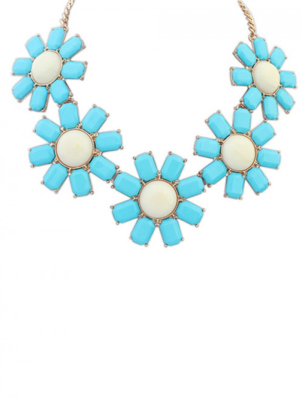Occident Bohemia Flowers Fashion Necklace