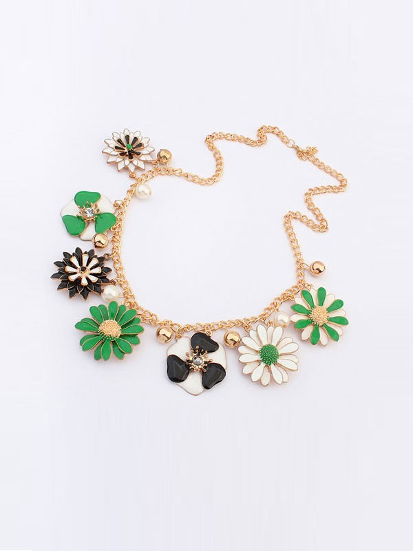 Occident Celebutante Luxurious Flowers Daisy Fashion Necklace