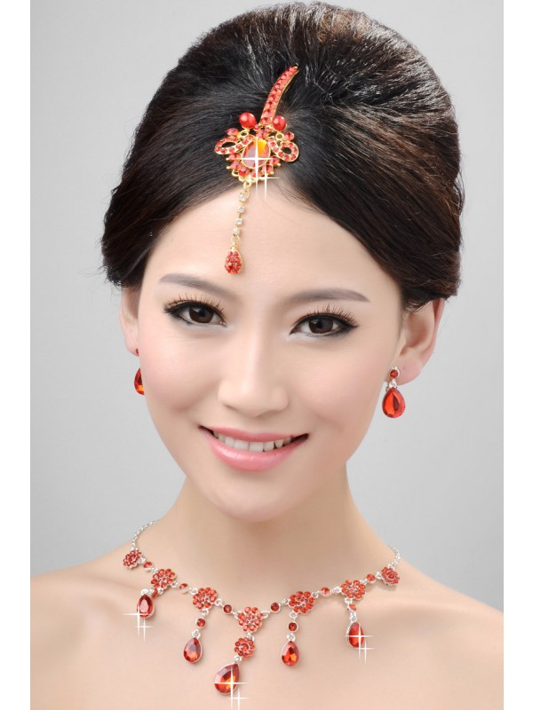 Nice Alloy Crystals Wedding Party Earrings Set